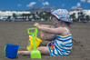 Emily playing sandcastles2 (dan.oxlade) Tags: d40 nikkor nikkor50mm118g beach child polarisingfilter nikon lanzarote spain holiday