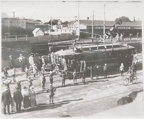 The opening of the Semaphore tramline
