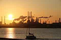Tata Steel, Velsen (Rick & Bart) Tags: ijmuiden velsen thenetherlands tatasteel industry sunset nature northseacanal noordzeekanaal rickvink rickbart canon eos70d