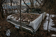 Winter camouflage (Abandoned Rurex World.) Tags: automobile abandonné abandon hdr 2017 urban urbex rurex mga explored abandoned car lost place old vintage decay derelict ue exploration urbaine canon 1022mm 70d forgotten home memento mori 1965 pontiac parisienne
