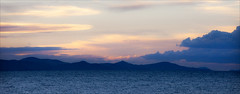 Lake Titicaca at Sunset (kate willmer) Tags: sky lake sunset clouds mountains dusk silhouette light colours titicaca altiplano peru
