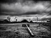 Charbonnage. (francis_bellin) Tags: méditerranée olympus 2017 noiretblanc samedi charbon fossurmer usine travail mai noir labeur