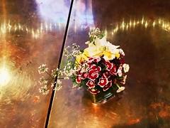 Flowers on copper (Emily Handy) Tags: warmtones restaraunt flower copper bouquet flowers