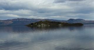 Inchmurrin island in Loch Lomond