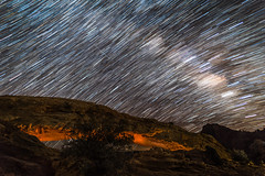 Mesa Arch Star Trails (HubbleColor {Zolt}) Tags: explored timelapse night utah milkyway canyonlandsnationalpark mesaarch stack startrails moab unitedstates us