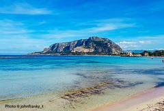 Mondello-Sicily-Italy (johnfranky_t) Tags: sicilia palermo italia italy johnfranky t mediterraneo mondello mare monte azzurro alghe
