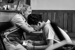 Contrasting Ideas of a Break (DSF_9626) (Param-Roving-Photog) Tags: cafe staff service break relax reflect thoughtful mood emotions contrast generations smartphone addiction candidphotography streetphotography monochrome blackandwhite bw nikon nikkor