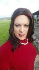 may 2017 - beautiful walk outside (cilii_77) Tags: cd tg tv crossdresser crossdressing outside walk transgender skirt pearls elegant public nylons high heels makup hair