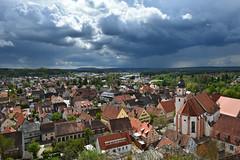 Hilpoltstein 2 (Pixelkids) Tags: hilpoltstein himmel gewitterwolken stadt dachlandschaft bayern wetter gewitter