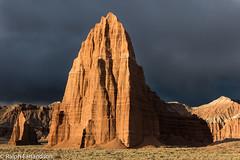 Sun Against a Black Sky (Ralph Earlandson) Tags: cathedralvalley utah capitolreef sunrise templeofthesun nationalpark capitolreefnationalpark desertbreath templeofthemoon desert coloradoplateau