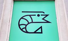 Shrimp (Coastal Elite) Tags: shrimp pictogram crevette pictogramme sushi sashimi window montreal light green vert dessin illustration shop store montréal vieuxmontréal oldmontreal crevettes sushis shrimps seafood food restaurant