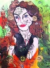 PERSONNE NE VIENDRA TE SAUVER, TOI SEULE LE PEUX (Claude Bolduc) Tags: artsingulier outsiderart lowbrow intuitiveart visionaryart teen anorexy artcollectors artbrut selftaughartist autodidacte surrealism painting horsnorme