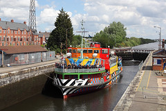 'Snowdrop' Latchford locks 13th May 2017 (John Eyres) Tags: running down latchford locks bound for liverpool 140517 manchestershipcanal mersey ferry