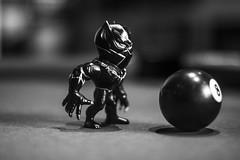 IMG_9477 (Brother Christopher) Tags: figure figurine toy toys black panther 8ball 50mm btw blackandwhite monochrome monochromatic explore indoors indoor brotherchris podcast nerd nerds geek geeks marvel civil war