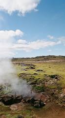Smokin' (IggyRox) Tags: iceland island scandinavia europe north highlands kjolur arnessysla hveravellir nature beauty film 35mm mountains sky clouds fumarole smoke steam volcanic
