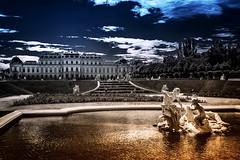 Oberes Schloss Belvedere Wien (Roman Achrainer) Tags: schloss belvedere wien österreich architektur skulptur wasser brunnen achrainer