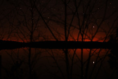 Crotch Lk sunset (T.Cochrane) Tags: canon 550d t2i 40mm f28 canada ontario north frontenac crotch lake sunset trees water horizon night sky