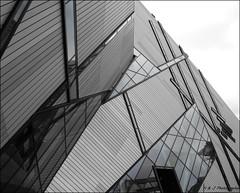 Lines (John Neziol) Tags: kjphotography toronto royalontariomuseum rom galss outdoors downtowntoronto ontario canada art structure architecture lines blackwhite monochrome