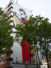 D-Face : création en cours (28 avril 2017) (Archi & Philou) Tags: dface streetart murpeint paintedwall paris13 itinerrance travailencours wip workinprogress homme femme baiser pinel visage man woman kiss face