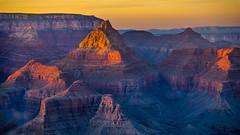 Grand Sunset (claudeallaert) Tags: arizona carlzeissjena135mm35 coloradoriver erosion grandcanyon landscape manualfocus nationalpark rock sonyilce7 sunset telephotolens vintagelens southrim