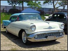 Olds Ninety-Eight (novice09) Tags: backtothefifties carshow oldsmobile 1957 whitewalls ipiccy