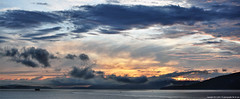 2017-05-04 Sunset (04) (2480x1024) (-jon) Tags: anacortes skagitcounty skagit washingtonstate washington salishsea fidalgoisland sanjuanislands pugetsound guemeschannel waterfront sky sunset cloud clouds a266122photographyproduction composite stitched spring pnw pacificnorthwest rosariostrait