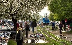 Market Negotiations (Kingmoor Klickr) Tags: market ukraine tu2034 narrowgauge railway traders vynohradiv kmilnyk borshava