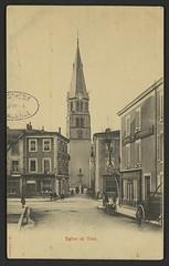 Eglise de Tain (Médiathèques Valence Romans agglomération) Tags: eglise place charrette commerce tainlhermtage
