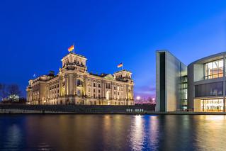 Reichstagsgebäude und Paul-Löbe-Haus, Berlin-Mitte