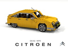 Citroen GS X2 (lego911) Tags: citroen gs gsa saloon hatchback x2 1975 auto car moc model miniland lego lego911 ldd render cad povray 1970s classic psa lugnuts challenge 115 thefrenchconnection french connection france foitsop