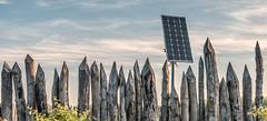 Neolithicum (Jorden Esser) Tags: otherkeywords vlaardingen fencefriday neolithicage palisade sky solarenergy solarpanel stakefence stoneage nederlandvandaag