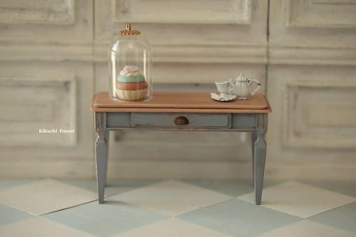 Handmade Dollhouse Furniture Kitchen - Kitchen Table - 1/12 ...