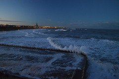 Towards Cullercoats (CoasterMadMatt) Tags: cullercoats2017 cullercoats tynemouth2017 tynemouth town towns village villages seasidetown northsea sea ocean roughseas roughsea stormyseas stormysea rough stormy seas januarystorms waves wave breakingwaves crashingwaves stgeorgeschurch saintgeorgeschurch st saint georges church churches cullercoatschurch englishchurches tidalswimmingpool tidal swimmingpool outdoorswimmingpool outdoor swimming pool splash illuminated illumination litup lit up atnight inthedark tyneandwear tyne wear northeastengland england britain greatbritain gb unitedkingdom uk january2017 winter2017 january winter 2017 coastermadmattphotography coastermadmatt photos photographs photography nikond3200