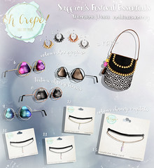 .oh crepe. saffron's festival essentials gacha - now @ N21! (-Coral-) Tags: sl secondlife second life accessories n21 fashion womens ohcrepe