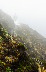 Disappearing in the mist (Rabican7) Tags: hawaii oahu misty lighthouse view travelling makapuu path