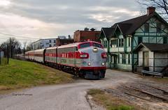 Back to Bardstown (Wheelnrail) Tags: rj corman shortline dinner train f7 emd diesel locomotive railroad rail road trains passenger car budd clermont jim beam bourbon kentucky