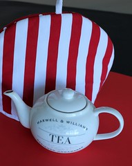 Seeing Red (Gillian Everett) Tags: teapot tea cosy stripes 365 2017 mdpd2017 mdpd201705 red white black 50mm 57 117