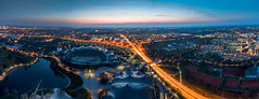 Top of Munich (xxremixx) Tags: olympia park türm tower museum lighttrail city stadt munich münchen top rooftop bavaria bayern blue hour sunset sundown
