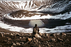 (ericayeater) Tags: iceland hverfjall crater mountain volcano film 35mm winter snow myvatn