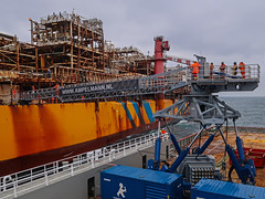 Walking to work over the North Sea (Craig Hannah) Tags: northsea oil gas platform rig fpso scotland uk offshore work access walk bridge craighannah may 2017