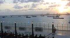 Ships waiting in Limon Bay, Colon, Panama (Hear and Their) Tags: norwegian pearl panama canal gatun lake