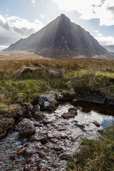 Sun From the Mountain (Mark Alan Andre) Tags: markalanandre scotland travel unitedkingdon landscape mountain water buachaille etive beag