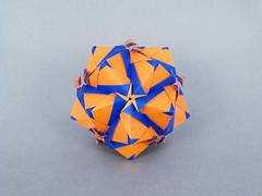 Starlet (masha_losk) Tags: kusudama кусудама origamiwork origamiart foliage origami paper paperfolding modularorigami unitorigami модульноеоригами оригами бумага folded symmetry design handmade art