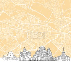 Sofia Bulgaria Skyline Map (Hebstreits) Tags: abstract architecture art background building canvas capital card cityscape desitnation destination europe famous footer greeting illustration infographic monochrome panorama pen presentation print sketch skyline sofia tourism tourist travel trip urban vector view wall
