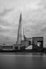 The Shard, London (JPaulTierney) Tags: london shard thames longexposure bw blackwhite office glass city sony a6000 ilce6000 18105mm 10stopper may 2017