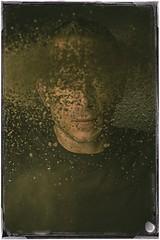 Kicking Dirt in My Own Face (snorkie128) Tags: dirt soil dust portrait man border vintage