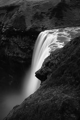 over the edge (Andy Kennelly) Tags: iceland winter bw waterfall golden circle south february skogafoss
