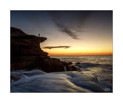 Early riser (Mike Hankey.) Tags: maroubra seascape published focus sunrise highcloud hightide colour