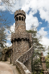 Quinta da regaleira (mathieuo1) Tags: portugal quintadaregaleira sintra europe lison travel discover garden palace castle architecture artistic history old ancient wall stone tower nature visit nikon dlsr d800 wide 2470 way beautiful park lines share kingdom color sky clouds day mathieuo