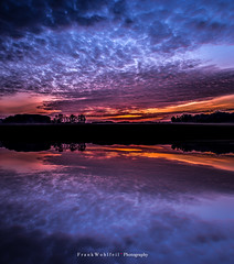 Sunset on the lake (mr.wohl) Tags: sunset himmel sky clouds spiegelung blau himmelblau wolken